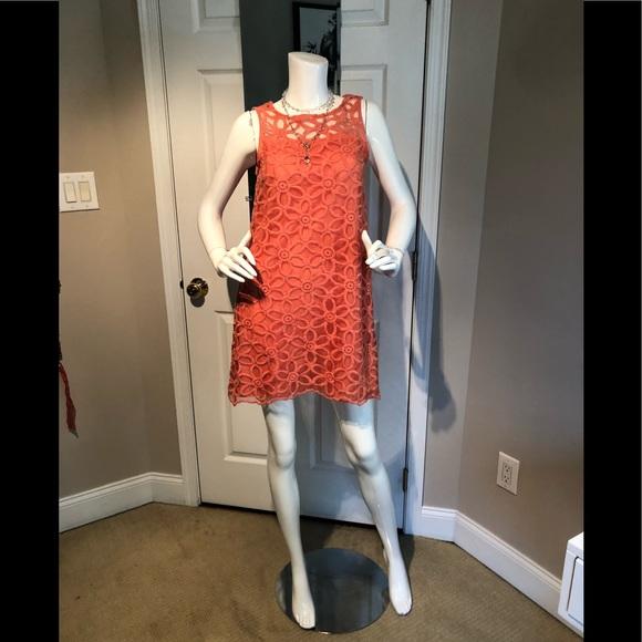 Mudpie 60's inspired orange 🍊 sheath dress